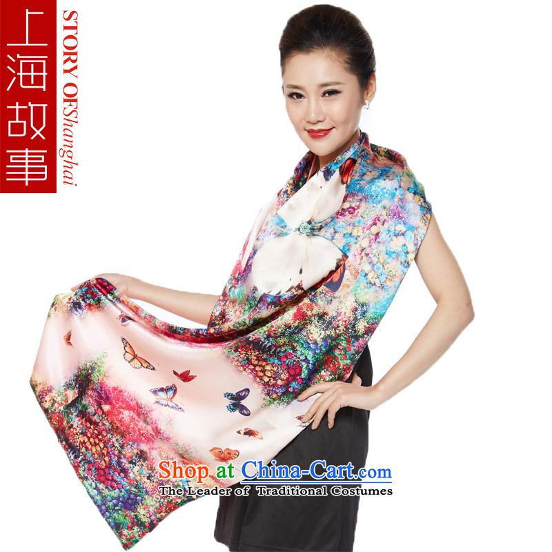 Shanghai Story silk scarfs satin double silk shawls spend a coin Butterfly Dance