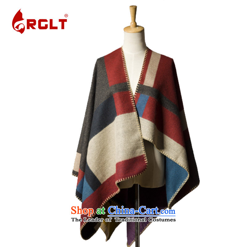 In Europe, the new spelling color plaid emulation cashmere blanket-cloak stars show the same shawl North Island