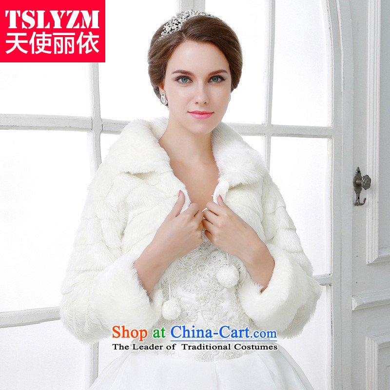 Wedding shawl 2015 new autumn and winter long sleeved shirt with white hair with small cuff bride shawl jacket fur Red Shawl Cheongsam