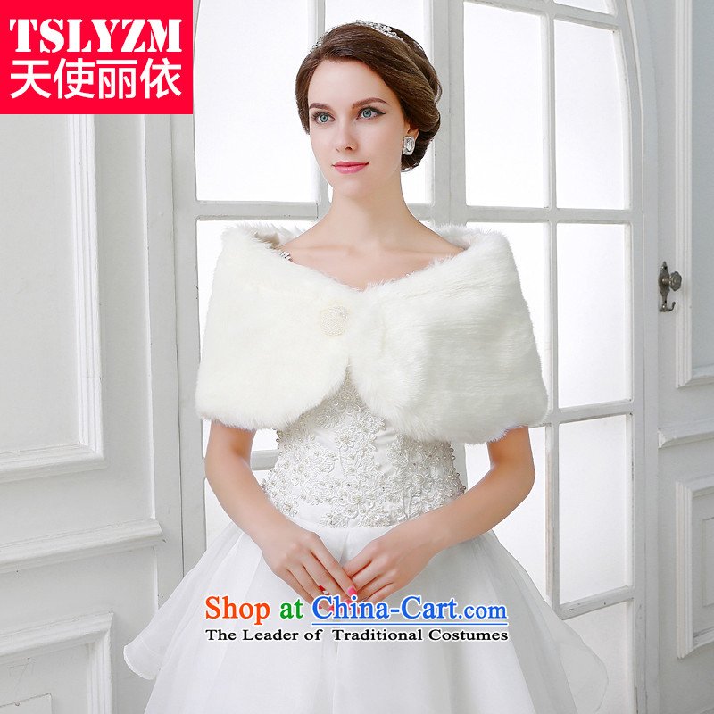 The new wedding gross shawl marriage of autumn and winter 2015) white long bride rabbit hair cloak fur muffler dress shawl