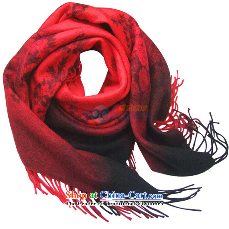 Hang Cheung wool stamp poised source shawl Dz-sy3014 red fine gift box red