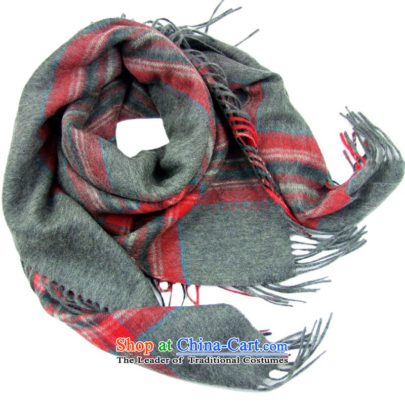 Hengyuan Cheung Building, Pure Wool intensify thick party shawl gift box Dz-sf130b gray and red fine gift box gray and red