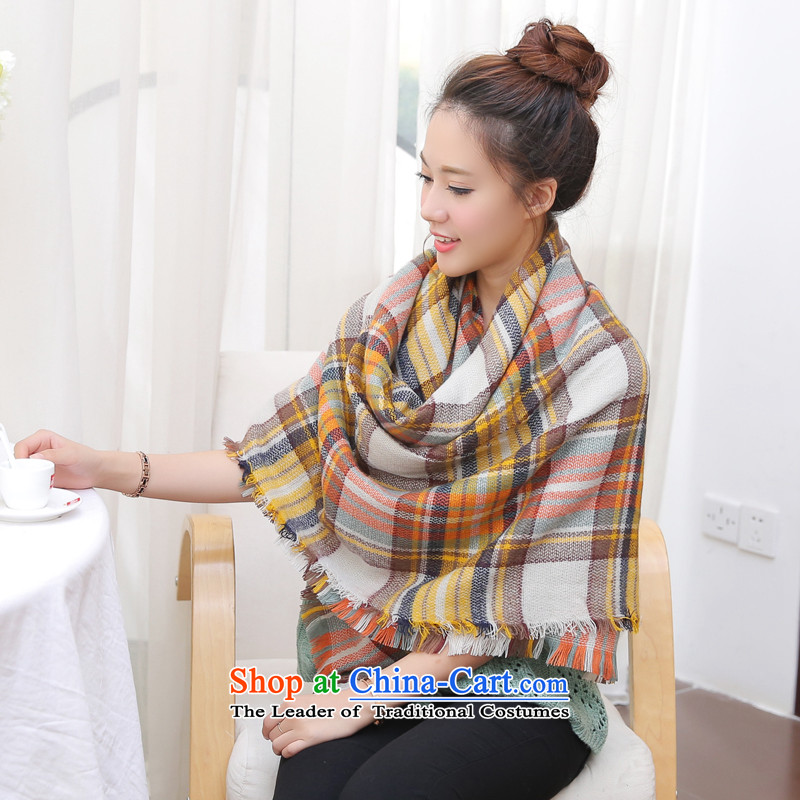 The World Card 2015 HIV autumn and winter new Korean Knitting scarves knitted warm winter grid size shawl cloak knitting, knitting a just leaves