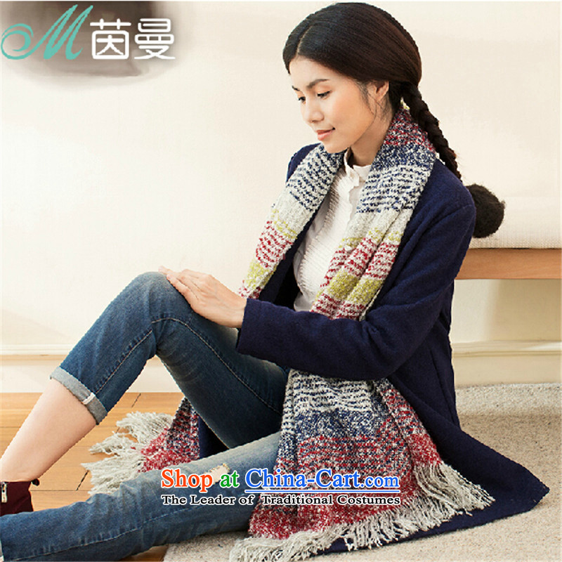 Athena Chu Cayman autumn and winter scarf color stitching arts stream su warm-ups (844140018] mixed-color