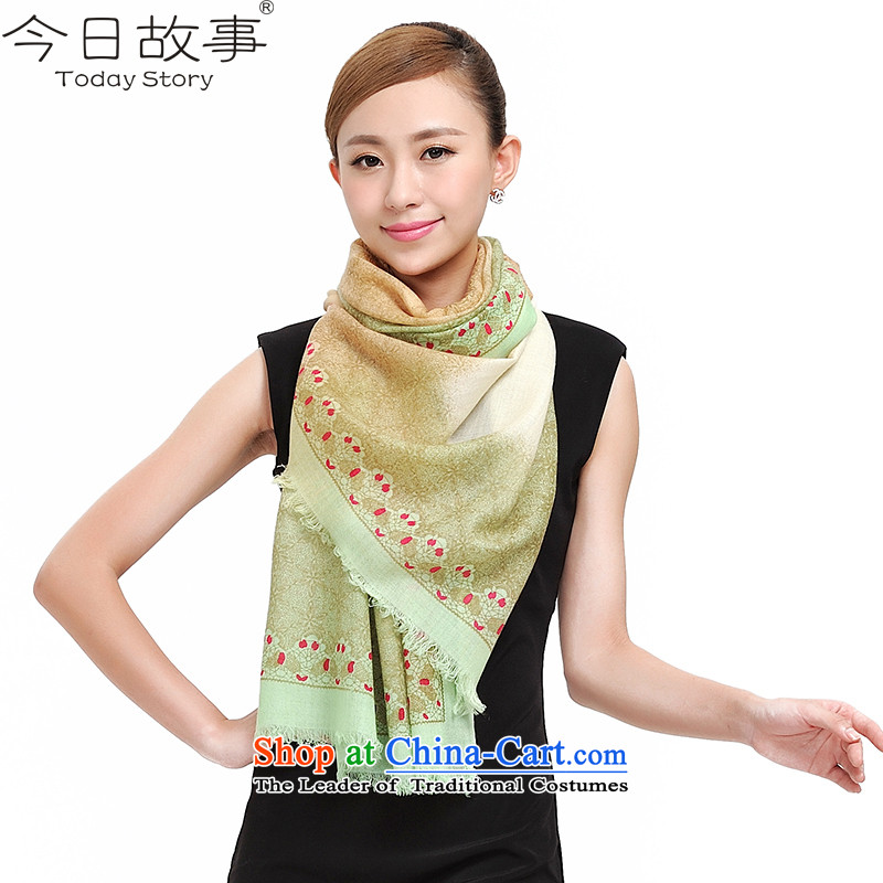 Today story autumn and winter wool women shawl scarves encryptionJ4156Sky City - m green