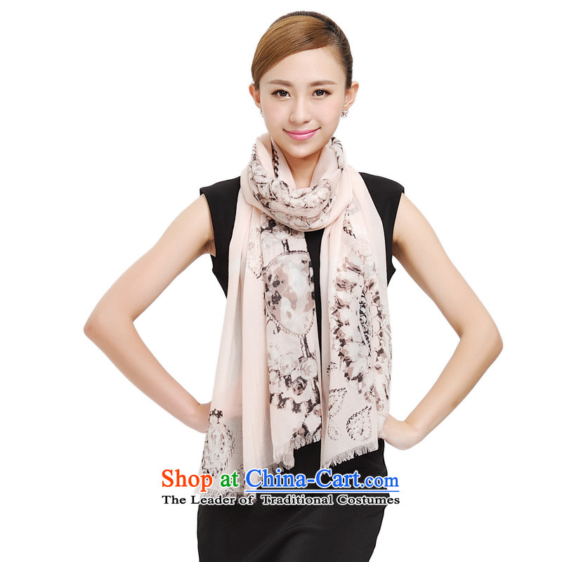 Shanghai Story New Pure Cashmere scarf, autumn and winter diamond pattern to warm 200S long pashmina shawl 177023 Beige