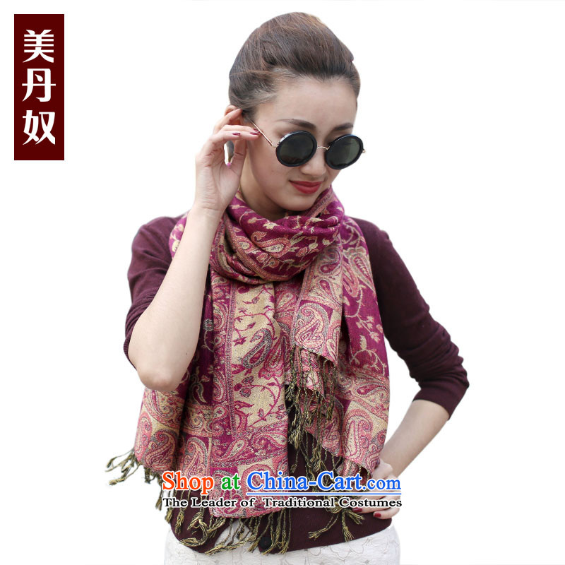 American slaves Dan Bohemia in autumn and winter warm gold long middle-aged ladies Fancy Scarf two using the Mom Gifts MCL03015 chestnut horses
