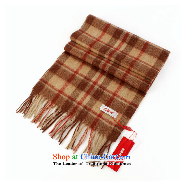 Mall genuine Hengyuan Cheung pink latticed wooler scarf female 180CM long scarf ultra warm Gift Box Package Mail