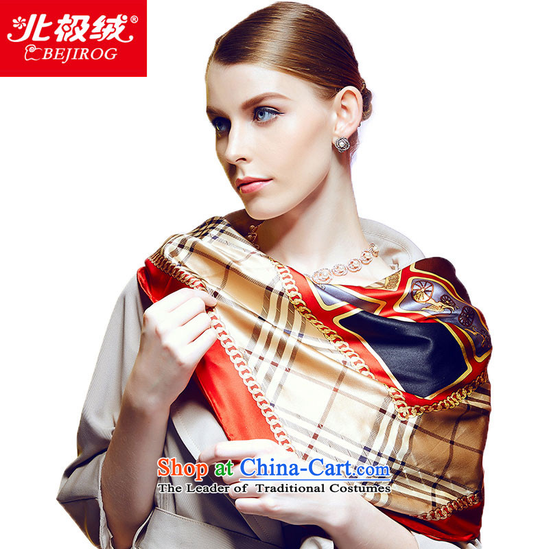 The Arctic Winter 2015, lint-free new silk scarves herbs extract women cape Orange Scarf