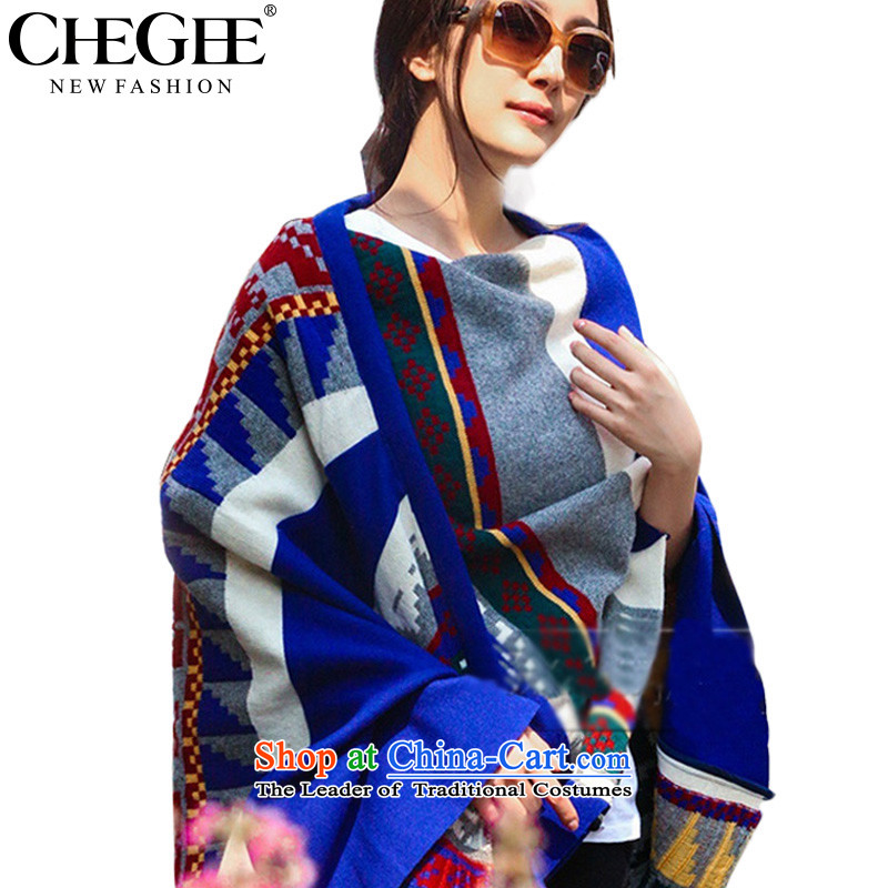 An Anthology CHEGEE autumn and winter warm shawl scarf female Bohemia sheikhs wind intensity of Knitting scarves knitted cardigans, Extra Thick
