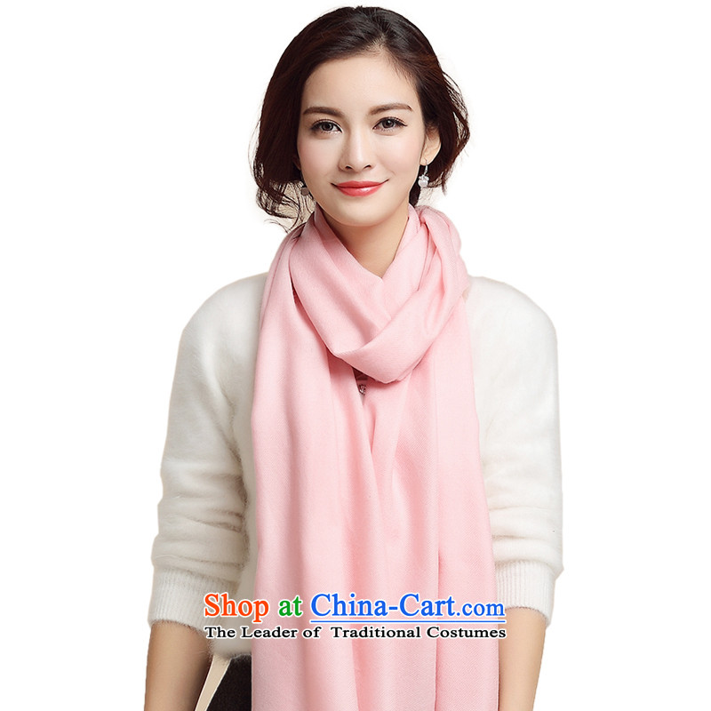 Three (15 new scarves autumn and winter import o woolen cravat Pure Wool pixel color, Fancy Scarf female Pink