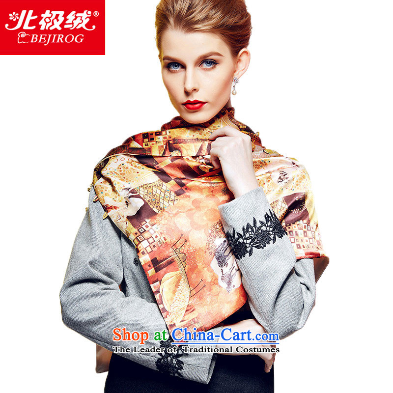 Arctic lint-free fall and winter new digital fabric silk scarves herbs extract, Sleek and versatile buckle shawl scarf Egypt murals