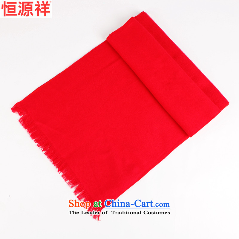 Hengyuan Cheung scarf pure cotton scarf unisex large red Business Gifts in any Christmas gift handkerchief also red