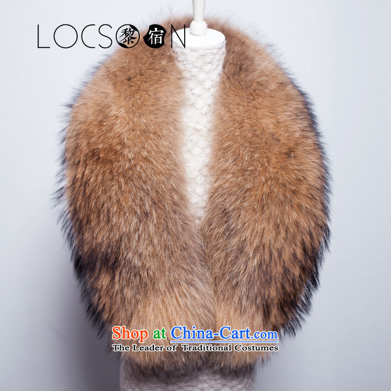 Host high-end LOCSOON Lai Custom European and American Van Extra Large Luxury leather fox gross shawl consolidation fur shawl nuclear-a scarf campaign Gross Gross natural frosted sub 130cm