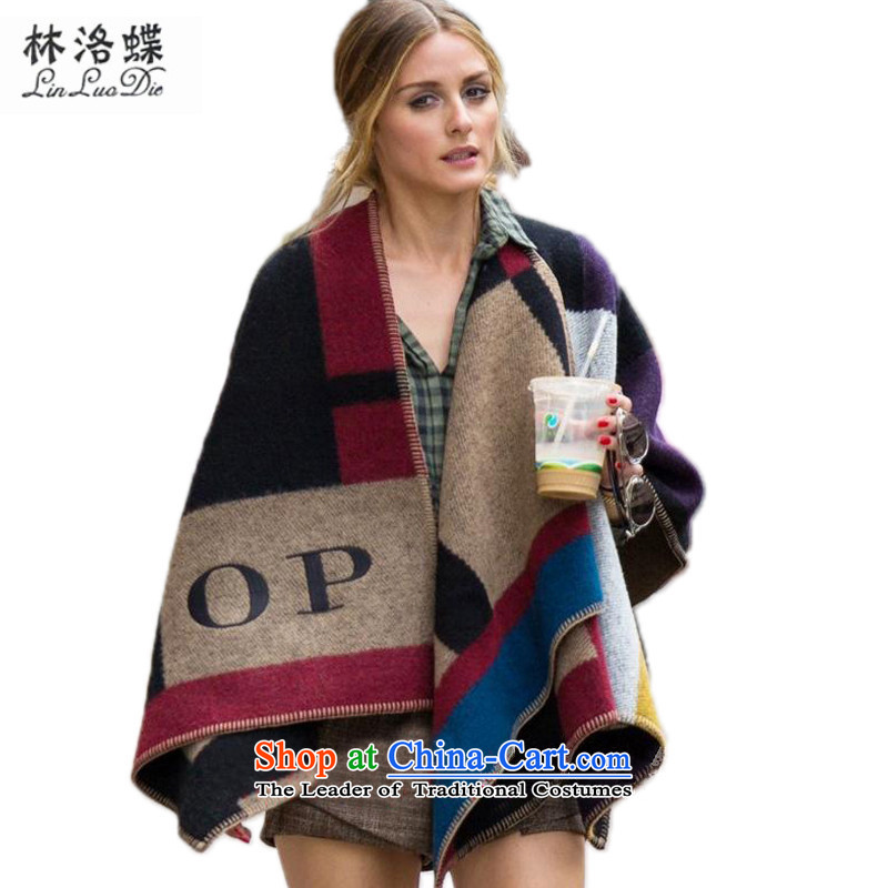Lin, butterfly 2015 Western autumn and winter air conditioning shawl England grid block emulation woolen shawl cloak temperament spell color plaid cloak on the forklift truck mantle scarf OP the forklift truck shawl