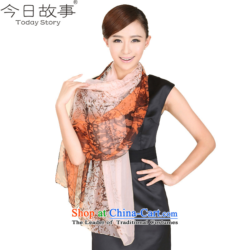 Today the population of the Jurchen people story scarf autumn and winter herbs extract silk shawls beach towelJ3146fatal love - Orange Pink
