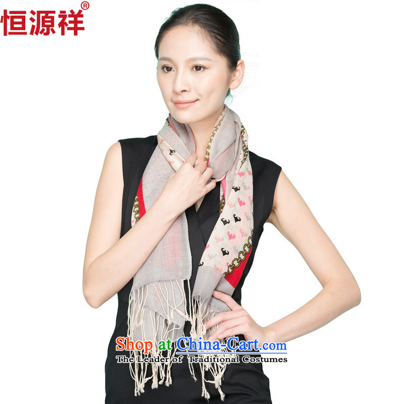 Ms. Cheung Hengyuan long woolen shawl scarf of autumn and winter Korean wild ) a warm 1370-2#