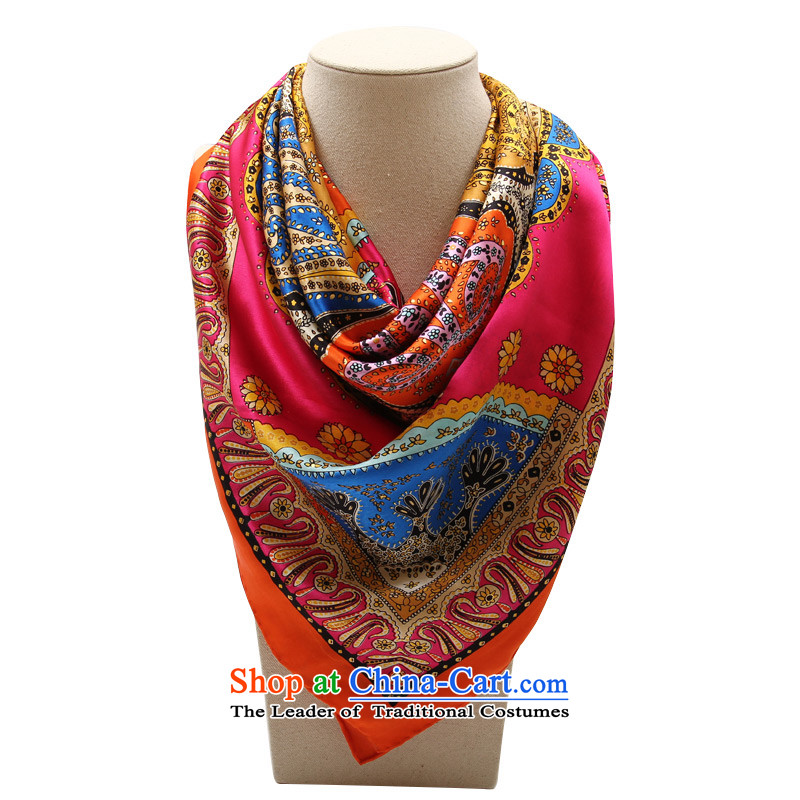 Shanghai Story autumn and winter women stamp and classy towel Fancy Scarf inaugural order orange