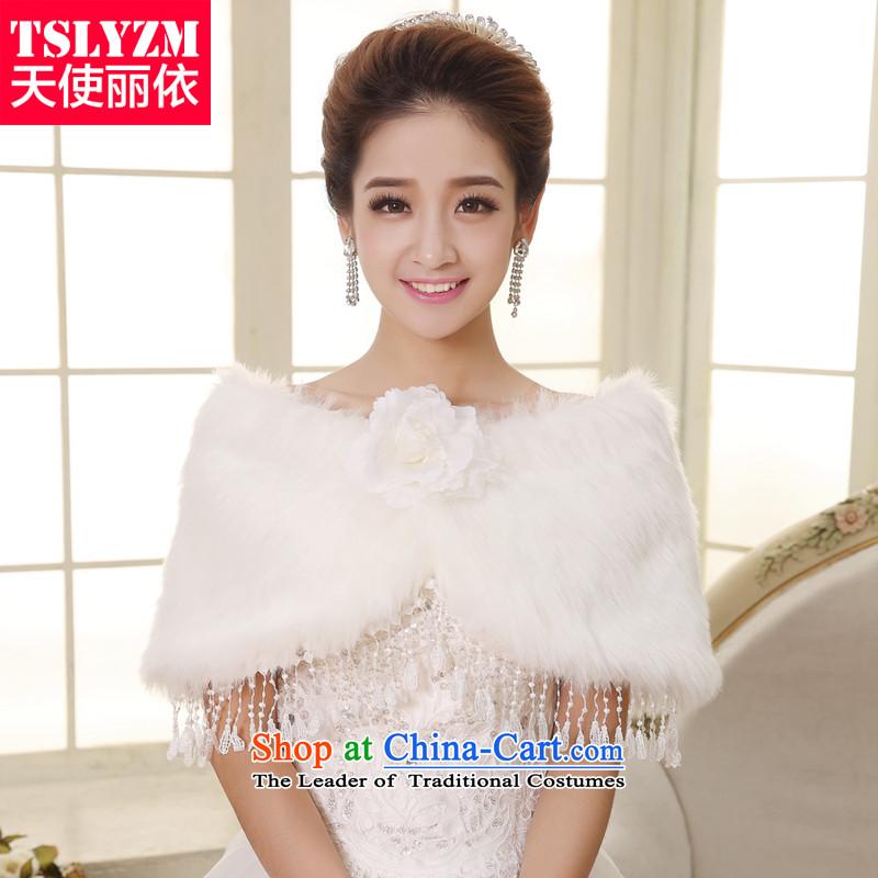 The bride gross shawl tslyzm 2015 new autumn and winter, marriage thick Warm Korean wedding dresses qipao shawl white scarf