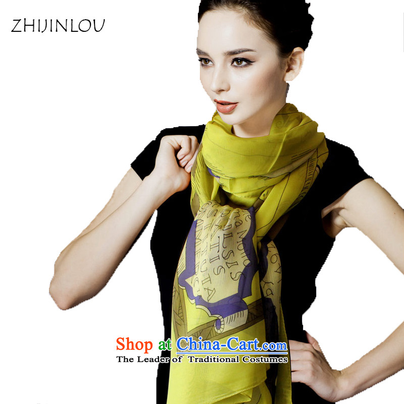 Tapestries floor silk scarves autumn and winter herbs extract long silk scarf women silk scarfs silk shawls long towel California Sunshine mustard green