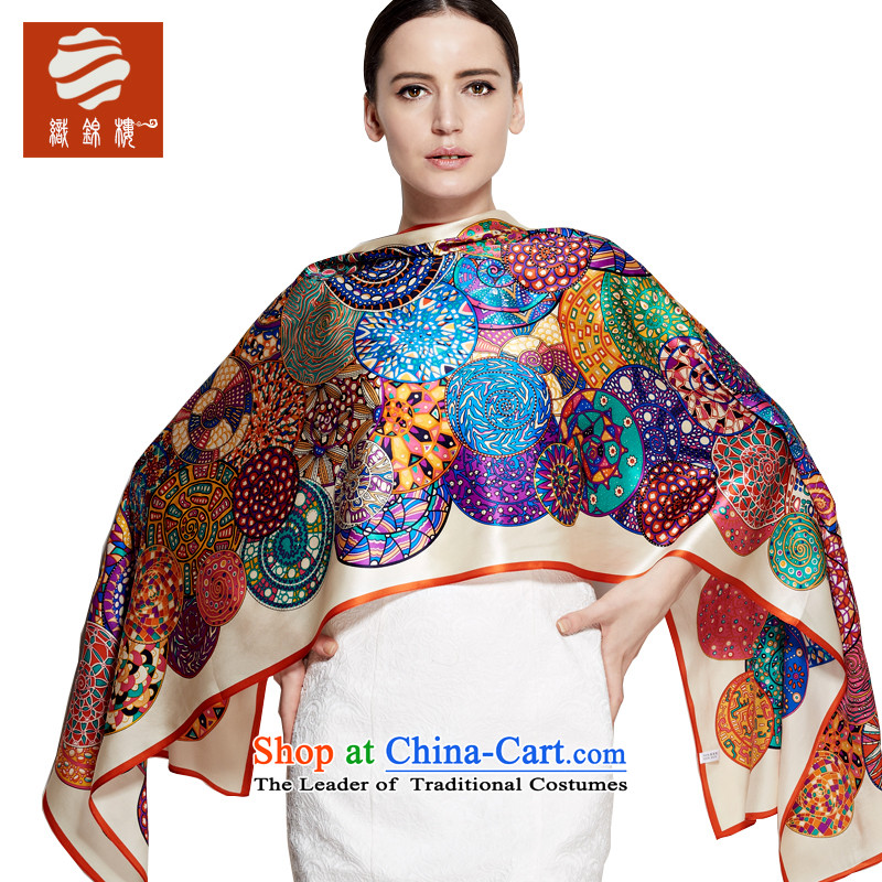 Tapestries floor silk scarf saga autumn and winter silk satin sauna silk scarves female long silk scarfs shawls and snow Queen