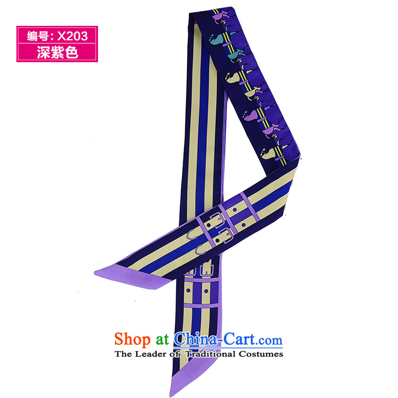 Heart hailanghua does succeeds in Europe a bind packages handle silk scarf with decorated attire small silk scarf throughout the turban聽deep purple X203