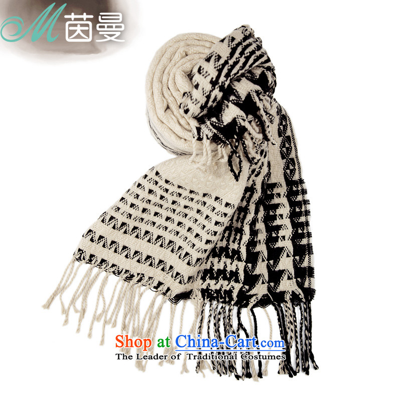 Athena Chu Cayman autumn and winter scarves knitted edging wild female scarves knitted cardigans a warm beige 844140048