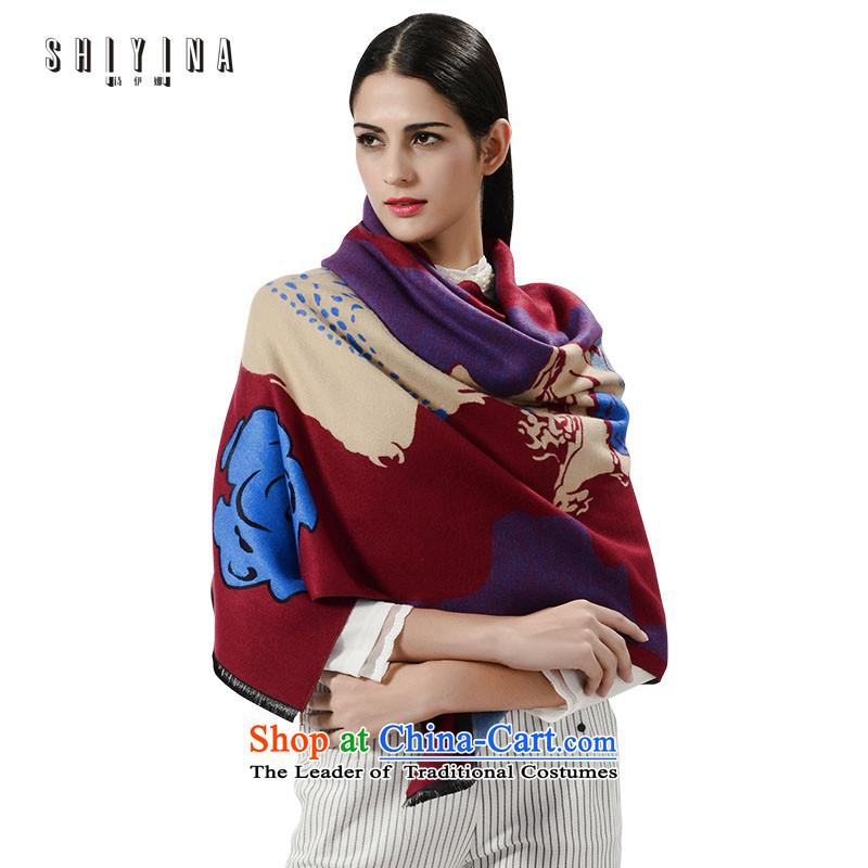 Ms. Ina _shiyina_ poem scarf autumn and winter thick warm shawl dual-use - rose chestnut horses