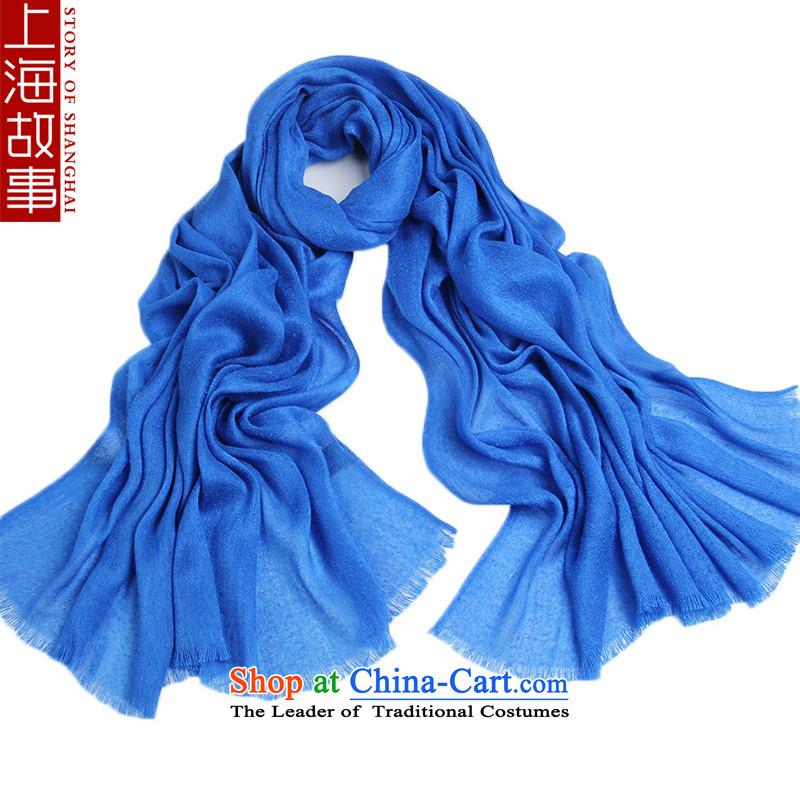 Shanghai Story, silk scarfby 2015 and a new ultra large silk scarf thin blue summer Beach Towel