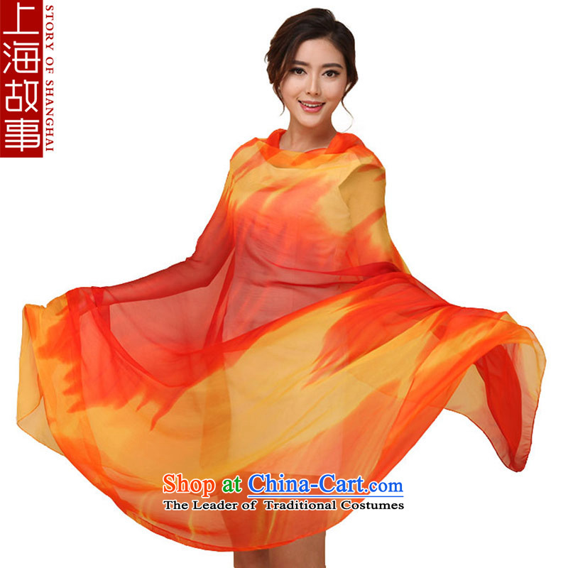 Shanghai Story Ms. silk scarf silk scarf chiffon scarf sunscreen shawl masks in the Mood for Love colorful flame