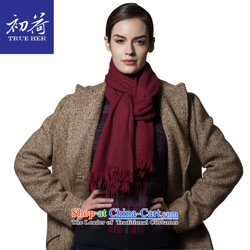 I should be grateful if you would arrange early Ms. pashmina of autumn and winter pure color female long warm couples a wilderness series wine red