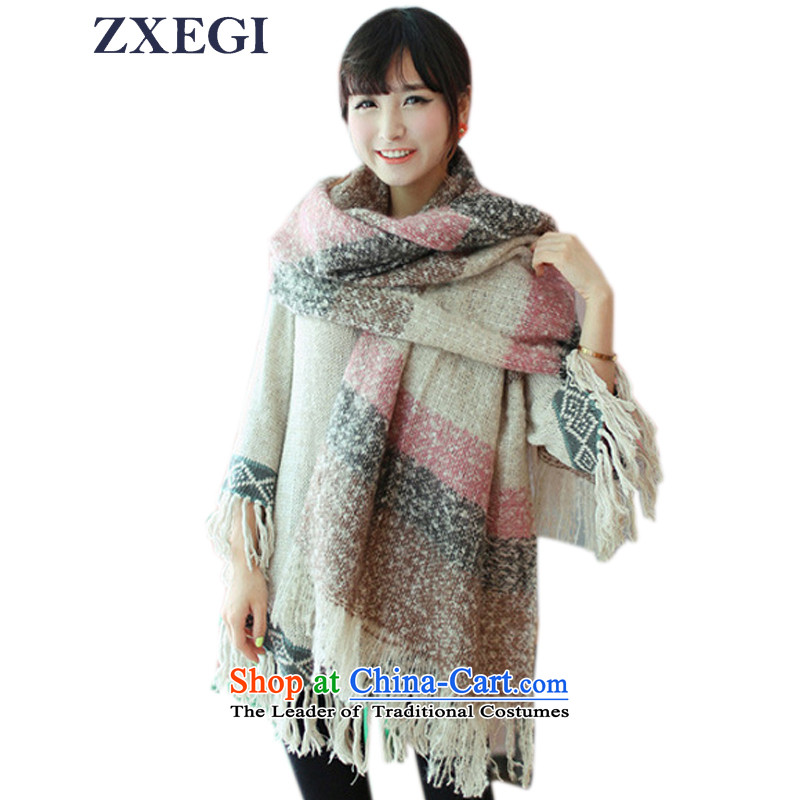 Zxegi women of autumn and winter new thick warm scarf Korean female #55 shawl scarf pink 200cm*60cm code included shall have