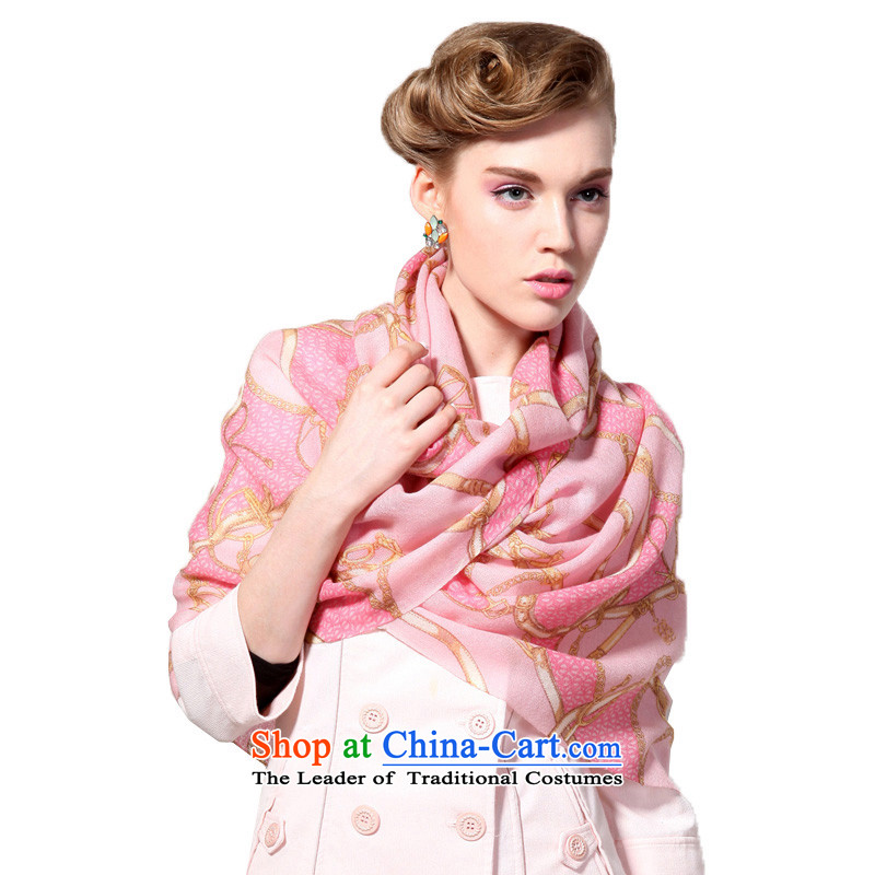 Hang Yuen Cheung-long Fancy Scarf dual-use air conditioning shawl thin shawl spring and autumn gifts _Boxset_ wool cashmere texture a chain Pink