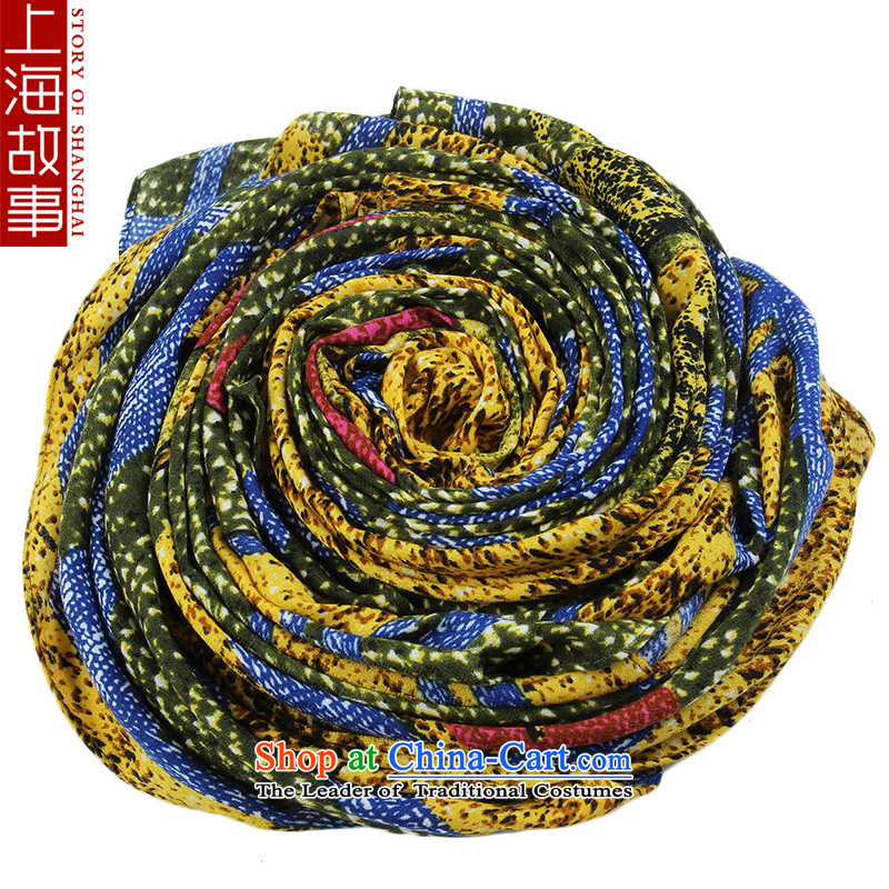 Shanghai Story Ms. scarves pashmina detailed health emulation Tianyuan idyll star yellow