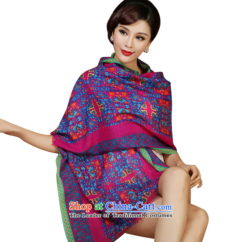 The Butterfly Dance Medley New Pure Wool scarf female stamp Australian wool scarf warm shawl scarf female聽3-11A, ASIA