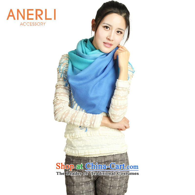 Ahn's ANERLI gradient Korea Pure Wool warm shawl scarf female autumn and winter gift box聽blue聽65_175 CHILD SOLDIERING  MOVING