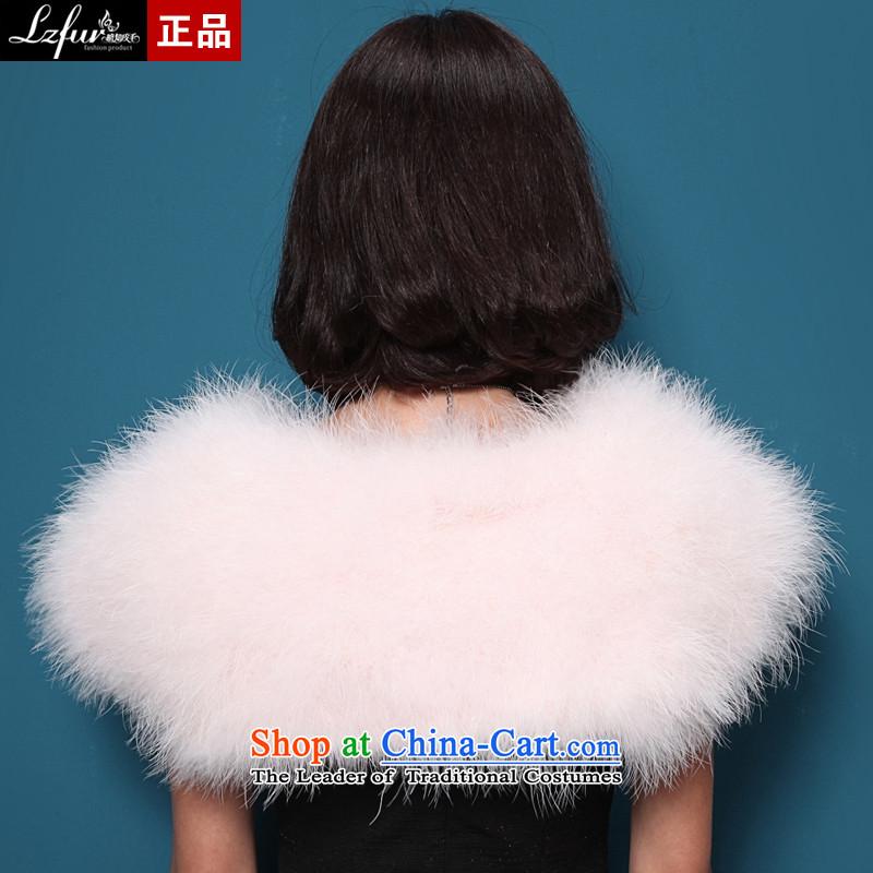 I know fur ostrich feathers shawl fur bride wedding dress jacket female winter shawl genuine minimum ground at shoulder dark red, slightly 5611 aware (lzfuv fur) , , , shopping on the Internet
