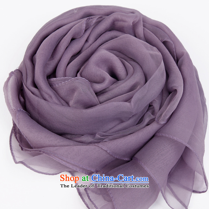 The Butterfly Dance medley pure color mixing filature silk scarf women cape candy colored silk scarf herbs extract long masks in the scarf light violet