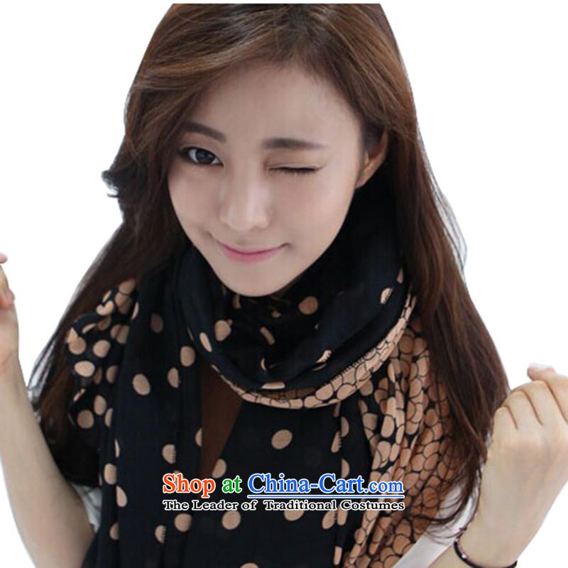 Heart Hailanghua 2015 new spring and autumn winter cotton linen silk scarf lovely Korean female Korean scarf long dual-use the spell checker color gradientB161 shawl black coffee