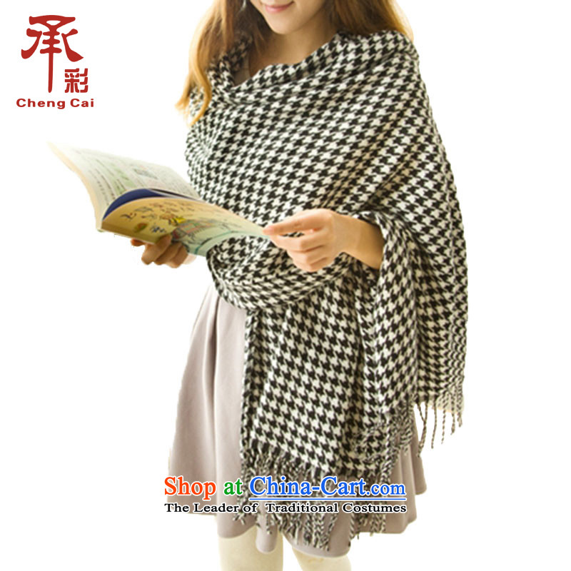 2015 Autumn and winter new warm thick knitting, knitting chidori grid female couple of Moore Townwh354 Fancy Scarf