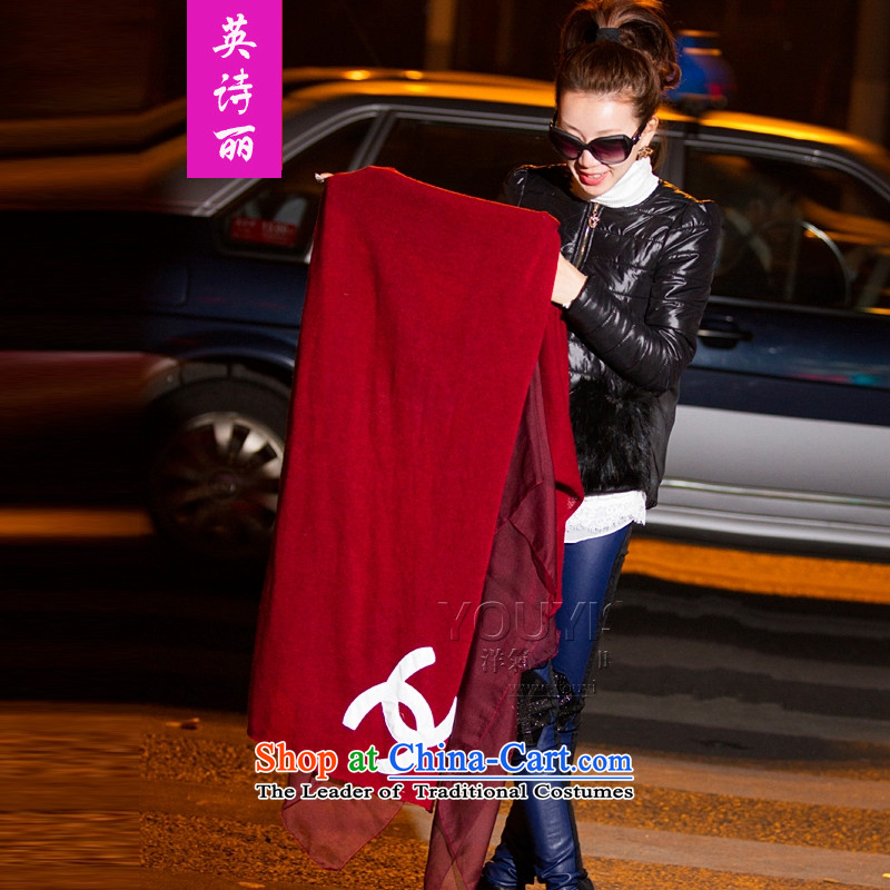 Ying Sze Lai 2015 autumn and winter elegant small wind light colored incense new knitting spell snow spinning extralong) thick and stylish girl scarf 3472nd wine red