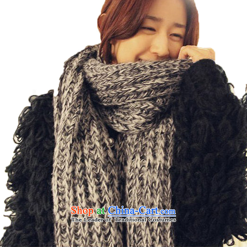 The Butterfly Korean Lam scarves couples long Knitting scarves thick autumn and winter warm and stylish wild a gray and black mohair long scarf female anthracite mohair scarf