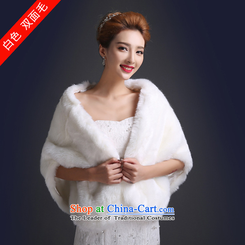 There is a single-sided embroidered bride winter shawl wedding dresses shawl winter, shawl bride gross shawlPJ103 Two-sided white hair