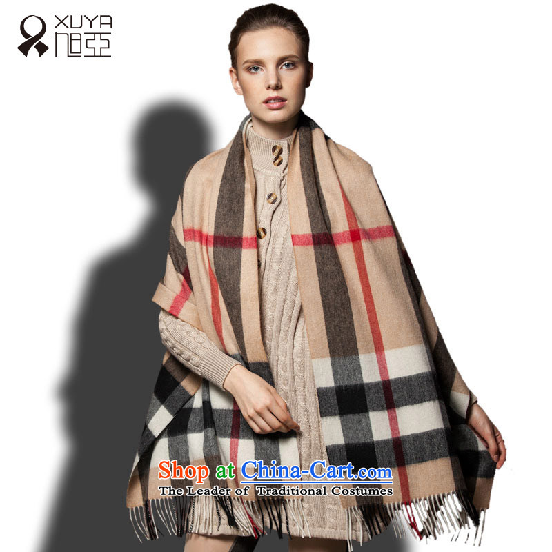 Ya pashmina shawl occidental child large scarf Cashmere wool scarf girls blended long thick with autumn and winter warm and stylish wild and grid