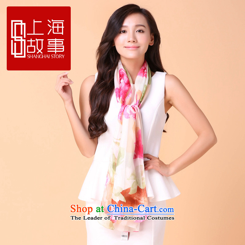 Shanghai Story silk scarves female long spring and autumn upscale herbs extract scarf summer sunscreen shawl summer aromatic fragrance - in the summer are Code Red