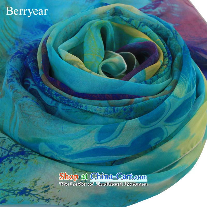 Upscale berryear silk scarfs Sleek and versatile stamp spring and autumn female long sauna silk scarves sunscreen200*130CM shawl