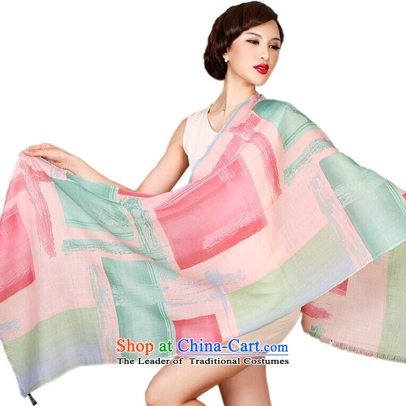 Bai Fei Li new stylish wooler scarf Korean president autumn and winter stamp long Fancy Scarf MW002-498a colored square - red and green190cm*65cm