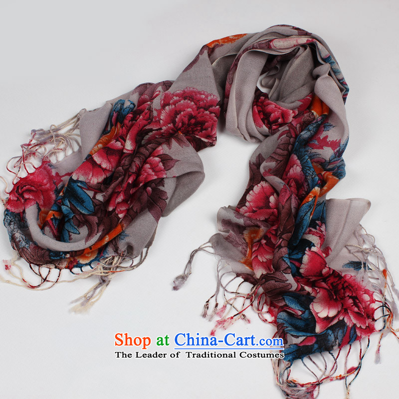 Shanghai Story winter new wool woolen shawl Ms. scarves stamp warm holiday gifts scarf Mission expended Kam clusters - Dark Gray