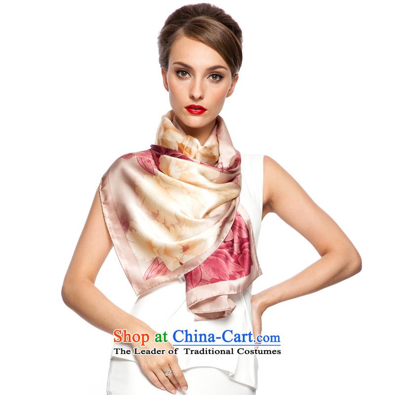 Shanghai Story聽2015 new stylish sauna silk scarves, scarf silk shawls peony flowers gift