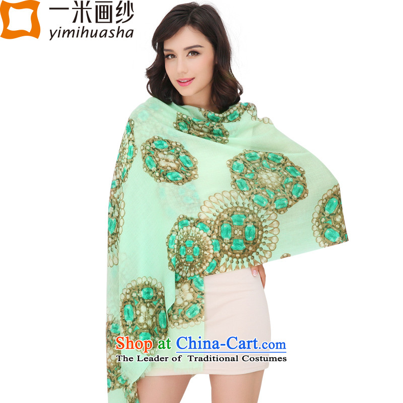 One meter picture of autumn and winter new shawl, 200 stamp wooler scarf gems light green